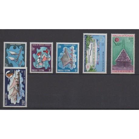 Wallis et Futuna - Année complète - 1972 - No 182/184 - PA41/PA43