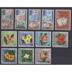 Wallis et Futuna - Année complète - 1973 - No PA44/PA55