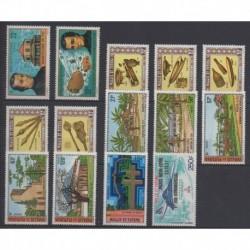 Wallis et Futuna - Année complète - 1977 - No 196/207 - PA74/PA75