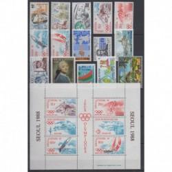 Wallis and futuna - Complete year - 1988 - Nb 375/384 - PA160/PA164 - BF3