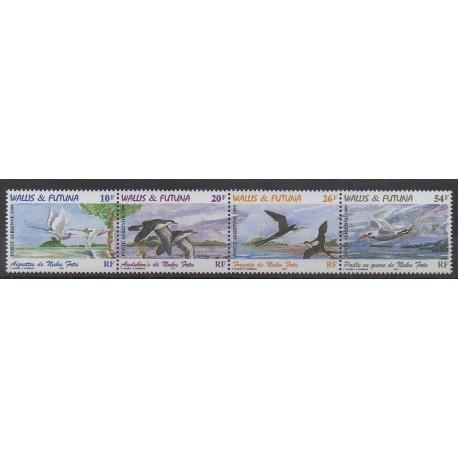 Wallis et Futuna - Poste aérienne - 1999 - No PA214/PA217 - Oiseaux