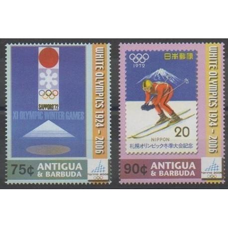 Antigua et Barbuda - 2006 - No 3733/3734 - Jeux olympiques d'hiver