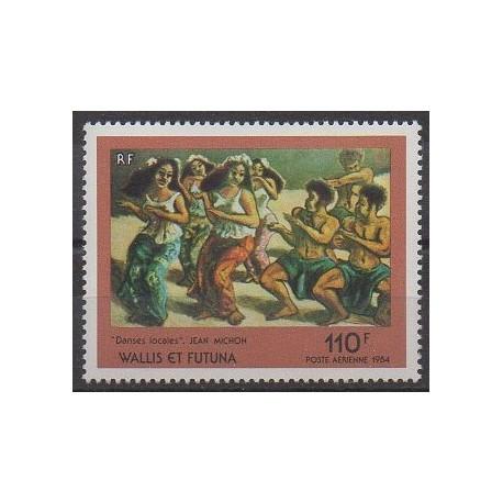 Wallis et Futuna - Poste aérienne - 1984 - No PA140 - Peinture - Folklore