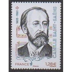 France - Poste - 2021 - Camille Saint-Saëns - Musique