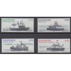 Denmark - 2001 - Nb 1294/1297 - Boats