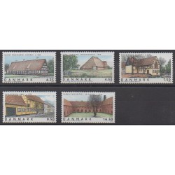 Denmark - 2005 - Nb 1393/1397 - Architecture