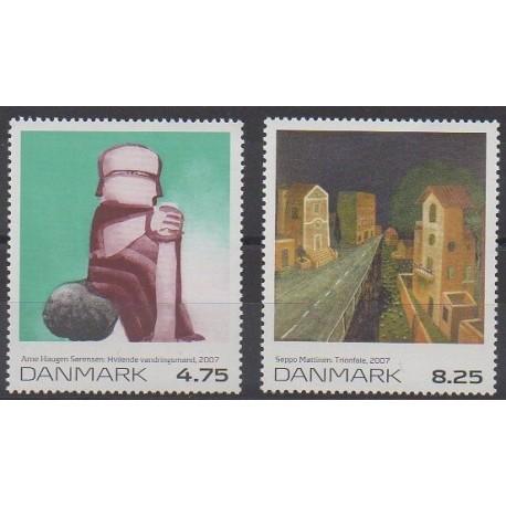 Danemark - 2007 - No 1471/1472 - Peinture