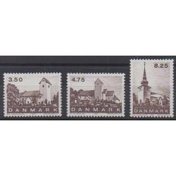 Denmark - 1990 - Nb 989/991 - Churches