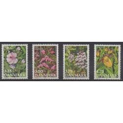 Denmark - 1990 - Nb 984/987 - Flowers