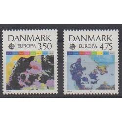 Denmark - 1991 - Nb 1004/1005 - Space - Europa