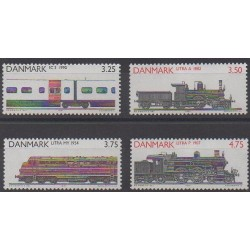 Denmark - 1991 - Nb 999/1002 - Trains