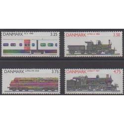 Danemark - 1991 - No 999/1002 - Chemins de fer