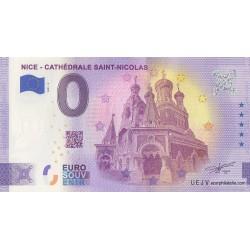 Euro banknote memory - 06 - Nice - Cathédrale Saint-Nicolas - Numéro de la 1ère liasse - 2021-3
