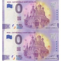 Euro banknote memory - 06 - Nice - Cathédrale Saint-Nicolas - Normal et anniversaire - 2021-3