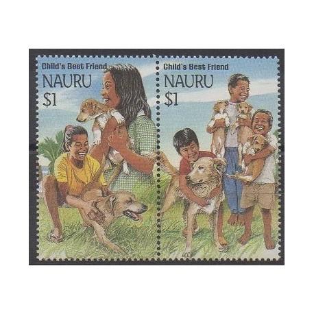 Nauru - 1994 - No 392/393 - Chiens