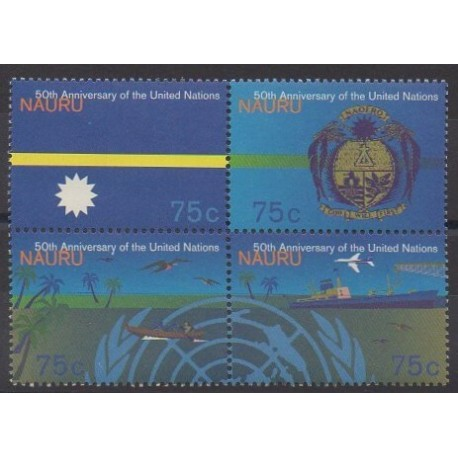 Nauru - 1995 - No 399/402 - Nations unies