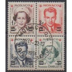 Monaco - 1951 - No 379A/382A - Santé ou Croix-Rouge - Oblitérés