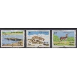 Nepal - 1984 - Nb 414/416 - Endangered species - WWF