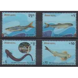 Népal - 1993 - No 509/512 - Vie marine