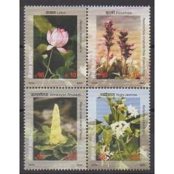 Nepal - 2003 - Nb 743/746 - Flowers
