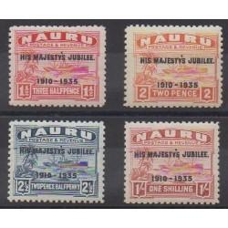 Nauru - 1935 - Nb 29/32 - Mint hinged