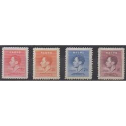 Nauru - 1937 - No 33/36 - Neufs avec charnière