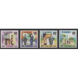 Nauru - 1981 - No 229/232 - Nations unies