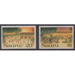 Nauru - 1987 - Nb 337/338 - Christmas
