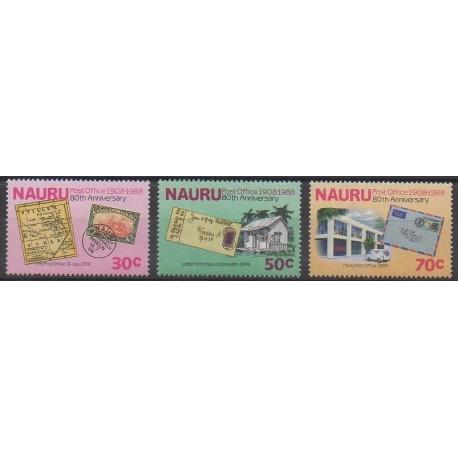 Nauru - 1988 - No 343/345 - Service postal