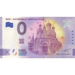 Euro banknote memory - 06 - Nice - Cathédrale Saint-Nicolas - 2021-3 - Anniversary - Nb 2001
