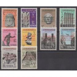 Yemen - Arab Republic - 1963 - Nb 17/26 - Art