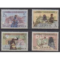 Yemen - Arab Republic - 1963 - Nb 36/39 - Childhood
