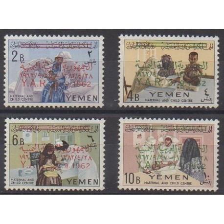 Yémen - République arabe - 1963 - No 36/39 - Enfance