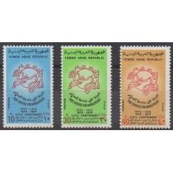 Yemen - Arab Republic - 1974 - Nb 275/277 - Postal Service