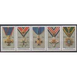 South Africa - 1990 - Nb 725/729 - Coins, Banknotes Or Medals