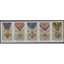 Afrique du Sud - 1990 - No 725/729 - Monnaies, billets ou médailles