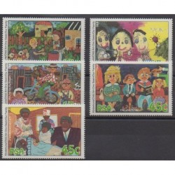 South Africa - 1994 - Nb 852/856 - Children's drawings