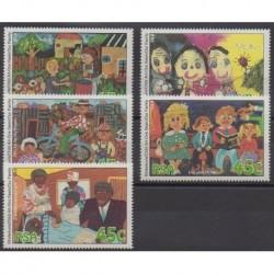 Afrique du Sud - 1994 - No 852/856 - Dessins d'enfants