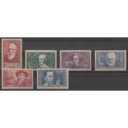 France - Poste - 1938 - No 380/385