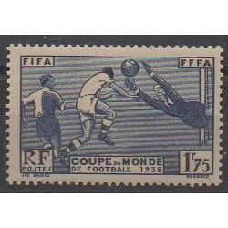 France - Poste - 1938 - No 396 - Coupe monde de football - Neuf avec charnière