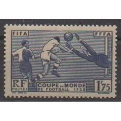 France - Poste - 1938 - No 396 - Coupe du monde de football
