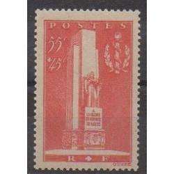 France - Poste - 1938 - No 395 - Santé ou Croix-Rouge - Neuf avec charnière