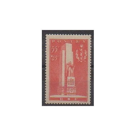 France - Poste - 1938 - No 395 - Santé ou Croix-Rouge