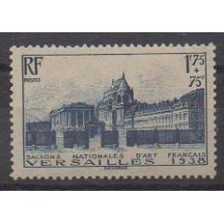 France - Poste - 1938 - No 379 - Châteaux - Neuf avec charnière