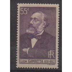 France - Poste - 1938 - No 378 - Célébrités