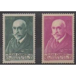 France - Poste - 1938 - No 377/377A - Célébrités - Neufs avec charnière