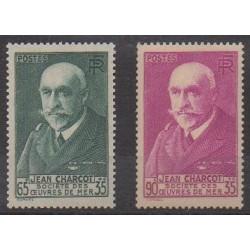 France - Poste - 1938 - No 377/377A - Célébrités
