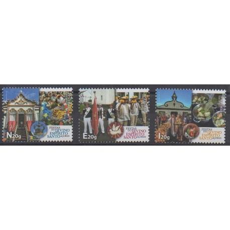 Portugal (Açores) - 2020 - No 631/633 - Folklore