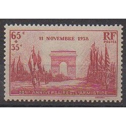France - Poste - 1938 - No 403 - Première Guerre Mondiale - Neuf avec charnière