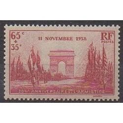 France - Poste - 1938 - No 403 - Première Guerre Mondiale
